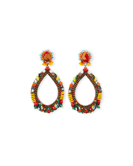 Ranjana Khan Meri Bead & Crystal Teardrop Earrings