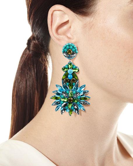 Ranjana Khan Tallaulah Bead & Crystal Drop Earrings