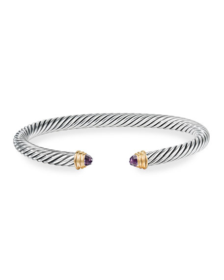Image 3 of 4: David Yurman Cable Classics Bracelet with Semiprecious Stones & 14K Gold, 5mm