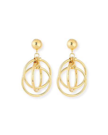 Jose & Maria Barrera Interlocking 3-Hoop Clip-On Earrings