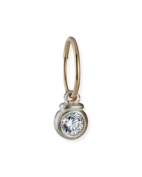 Lee Brevard Tiny Luna Earring w/ Cubic Zirconia, Single
