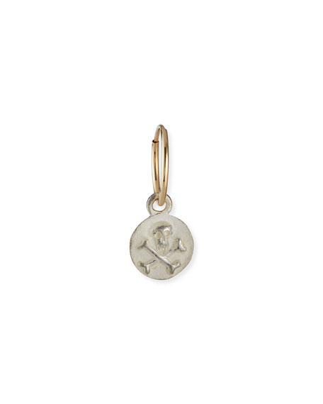 Lee Brevard Tiny Pirate Coin Earring, Single
