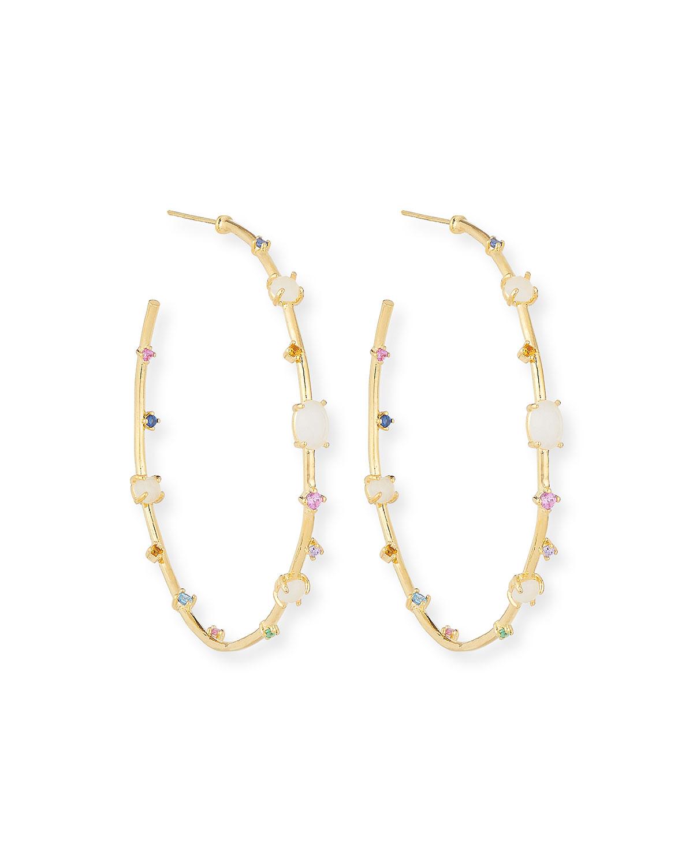 ebbcbc05150bb Multi-Stone & Opal Hoop Earrings