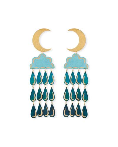 Night Shower Dangle Earrings