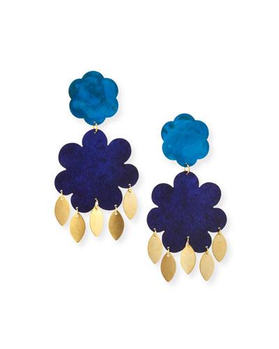 Flower Power Large Drop Earrings