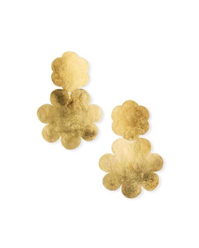 Fleur Double-Drop Earrings