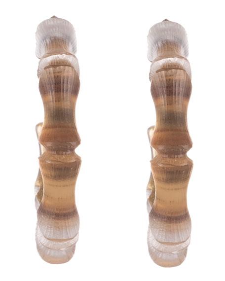 Alexis Bittar Bamboo Hoop Earrings, Gold