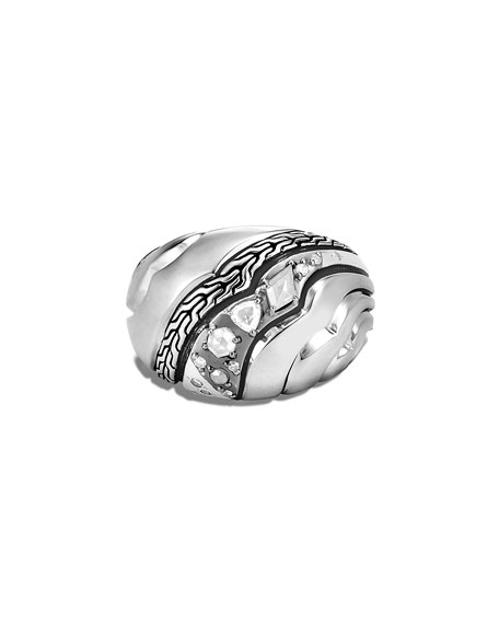 John Hardy Lahar Diamond Dome Ring, Size 6-8