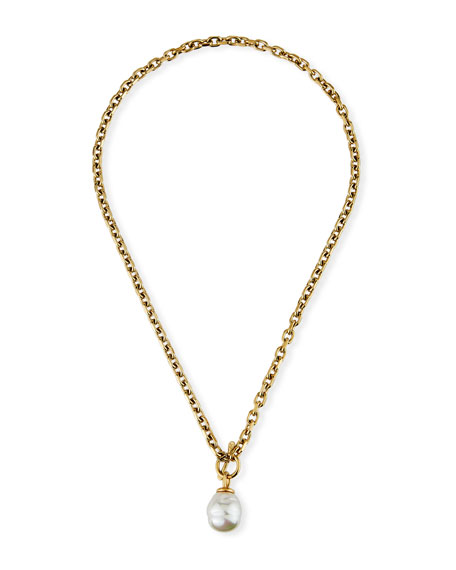 Majorica 12mm Pearl-Toggle Necklace