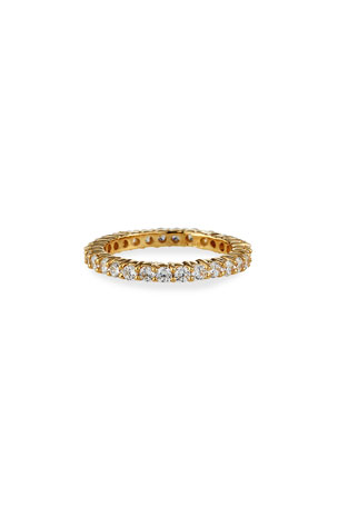 Fantasia by DeSerio Narrow 14k Gold Cubic Zirconia Eternity Band Ring, Size 6-8