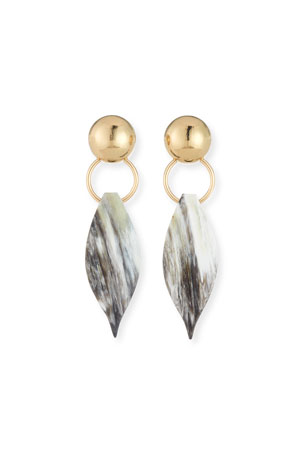 Akola Horn Leaf Earrings
