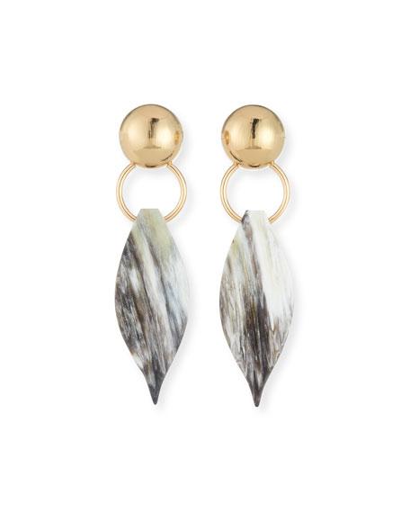 Akola Horn Leaf Earrings
