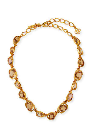 Oscar de la Renta Crystal Short Necklace