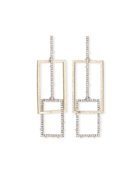 Alexis Bittar Brutalist Crystal Encrusted Link Earrings