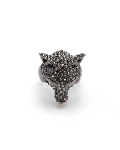Alexis Bittar Pave Fox Ring, Size 7