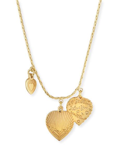 Gas Bijoux Mini Love 3-Charm Necklace