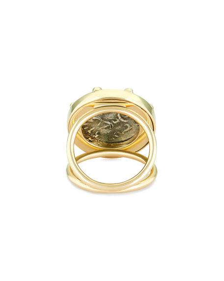Dubini 18k Darius Coin Ring, Size 6