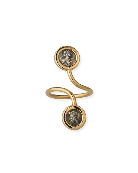 Dubini 18k Kings of Persia Ring, Size 6.5