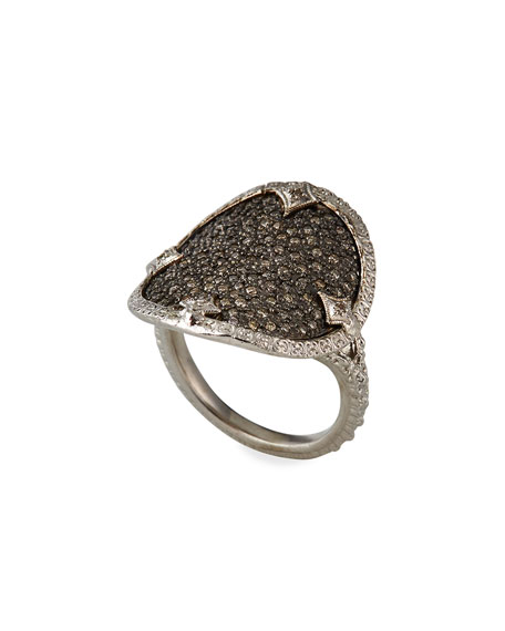 Image 4 of 4: Armenta New World Diamond Disc Ring, Size 7