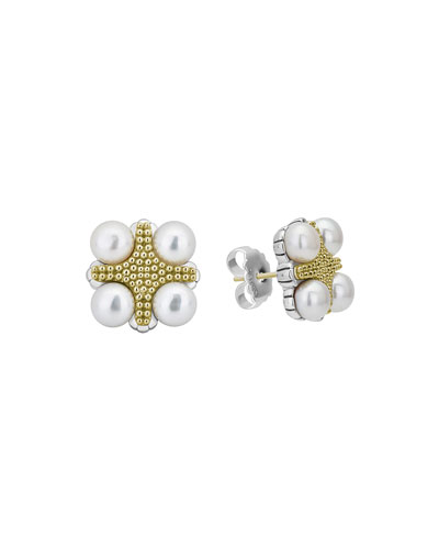 Luna 4-Pearl Stud Earrings