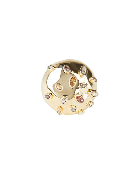Image 1 of 3: Sputnik Cocktail Ring, Size 8