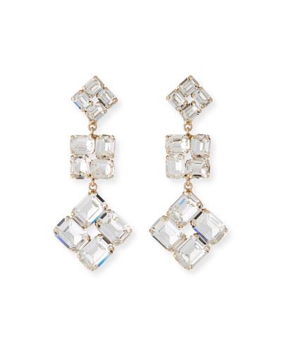 Ravenna Drop Earrings  Clear