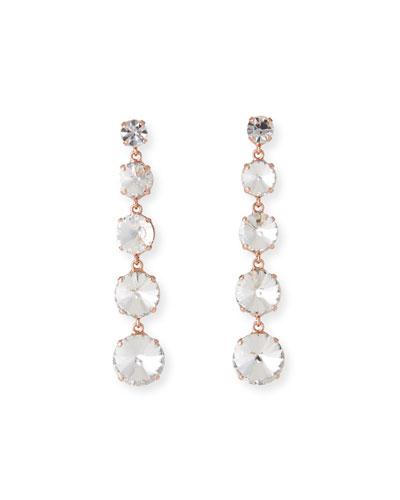 Fabiana Dangle Earrings  Clear