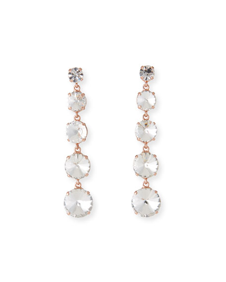 Rebekah Price Fabiana Dangle Earrings, Clear
