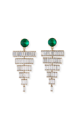 Rebekah Price Esmeredla Drop Earrings, Emerald