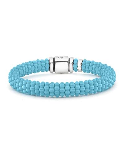 Caviar Ceramic Bead Bracelet  Blue