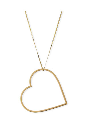 Lana 14k Mega Heart Pendant Necklace