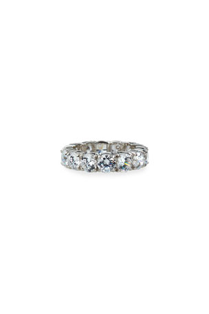 Fantasia by DeSerio 14k White Gold Cubic Zirconia Eternity Ring, Size 6-8