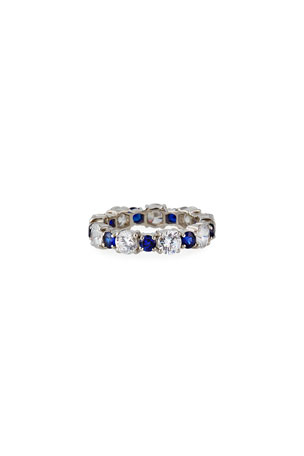 Fantasia by DeSerio Alternating Big and Little Stone Ring, Size 6-8