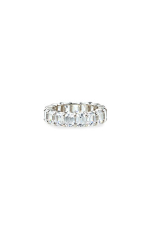 Fantasia by DeSerio 14k White Gold Emerald-Cut Eternity Ring, Size 6-8
