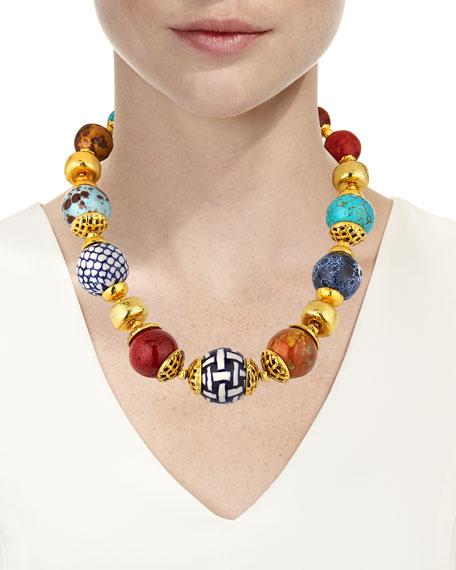 Jose & Maria Barrera Short Ceramic Necklace