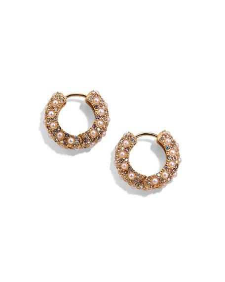 BaubleBar Pearly Huggie Earrings