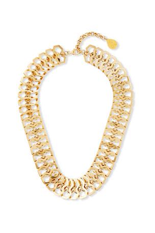 Devon Leigh Mesh Collar Chain Necklace