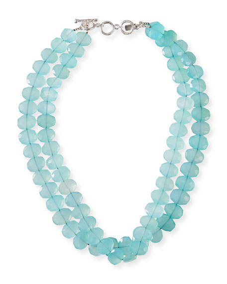Image 1 of 2: Margo Morrison 2-Strand Chalcedony Necklace