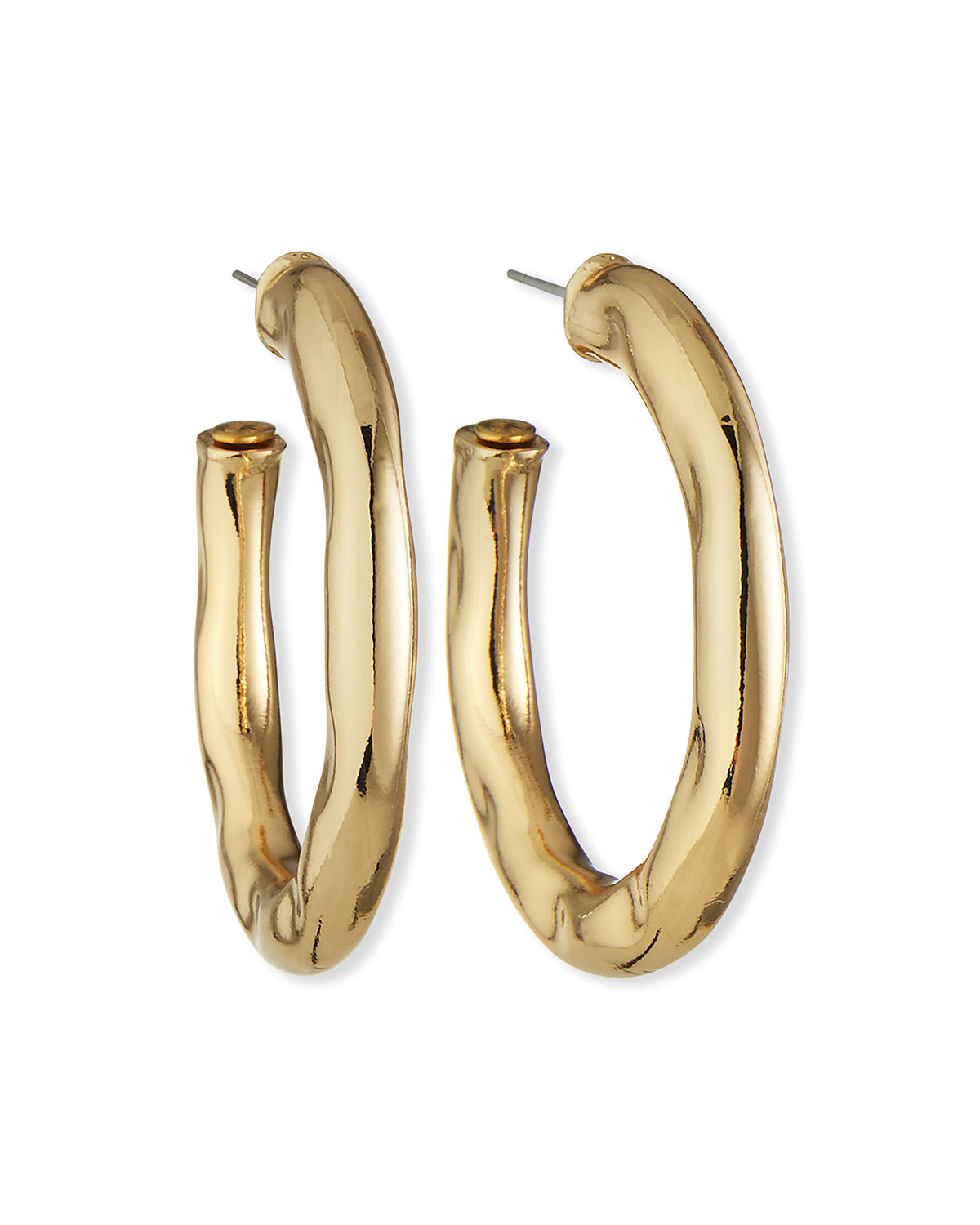 Kenneth Jay Lane Wavy Hoop Earrings