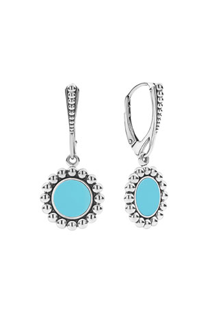 Lagos Maya Inlay Drop Earrings, Blue