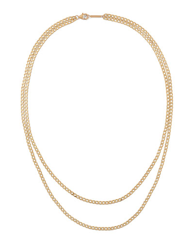 14k Nude Casino Double Layering Necklace