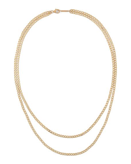 LANA 14k Nude Casino Double Layering Necklace