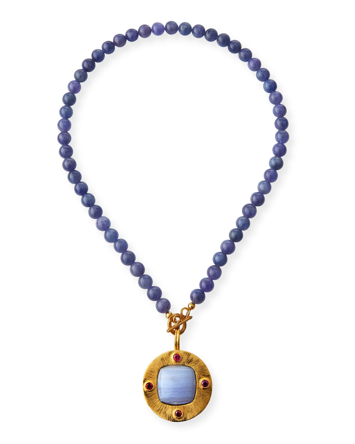 Dina Mackney Tanzanite and Disc Pendant Necklace