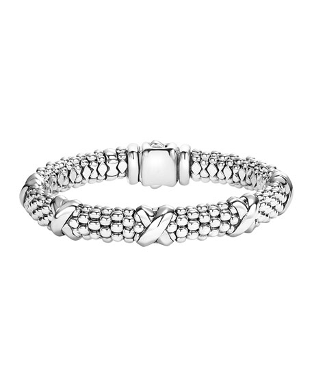 LAGOS Silver Caviar X Bracelet, 9mm