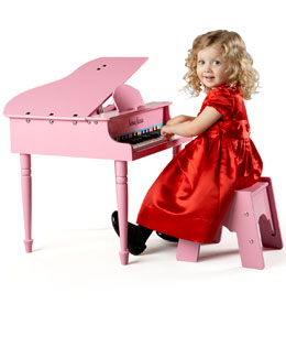 MELISSA & DOUG 30-Key Mini Grand Piano, Pink
