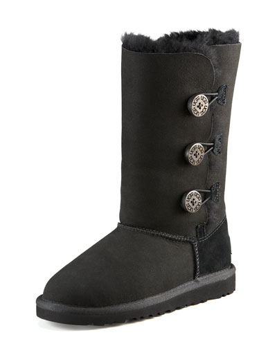 UGG Australia Bailey Button Triplet, Black, Youth
