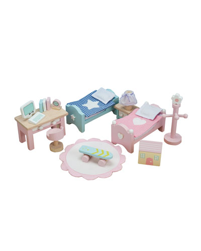 "Le Toy Van ""Daisylane"" Children's Bedroom Dollhouse Furniture"