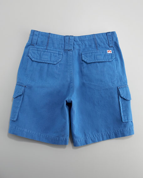 Solid Cargo Shorts, Midnight