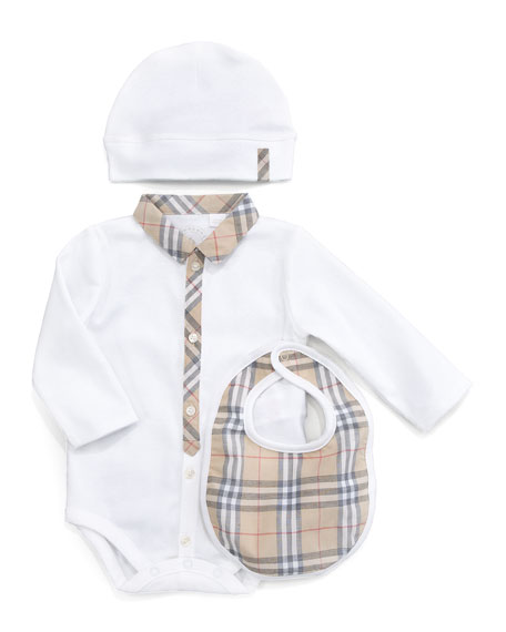 Carlos Boxed Bodysuit, Hat & Bib Set