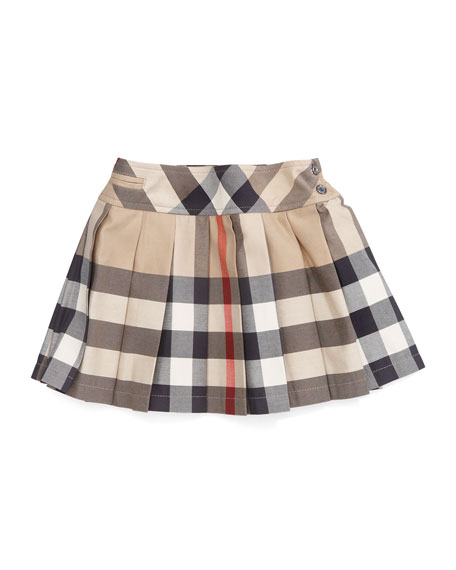 Serena Side-Button Check Kilt, 12M-3Y